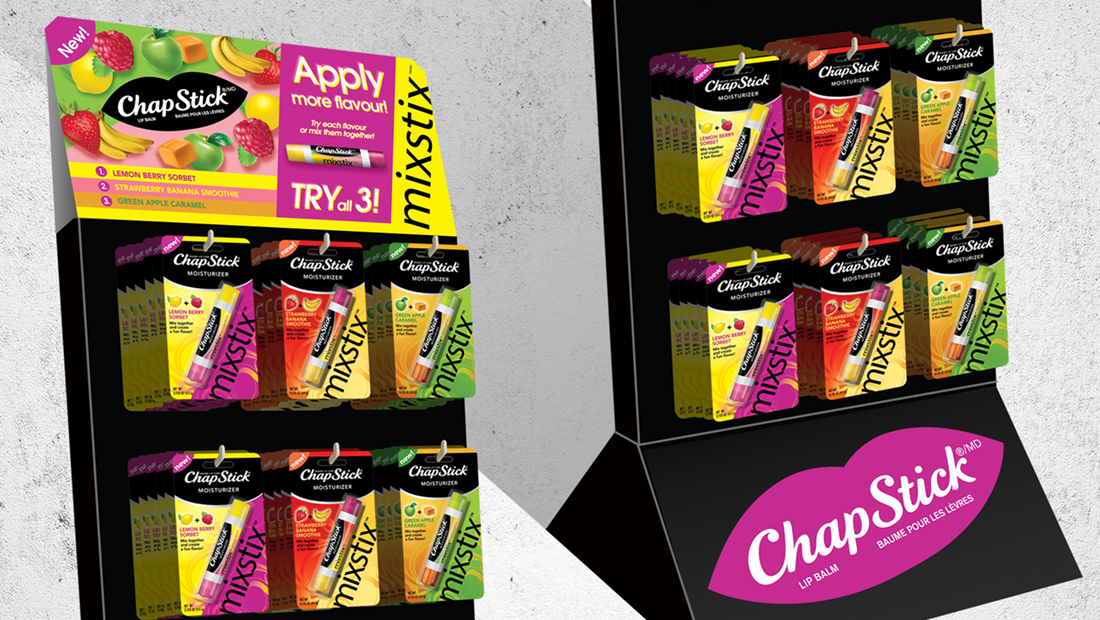 Chapstick Mixstix Display